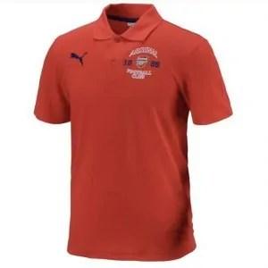 1ce7807542a Arsenal FC Mens PUMA Red Polo Shirt 2014-15
