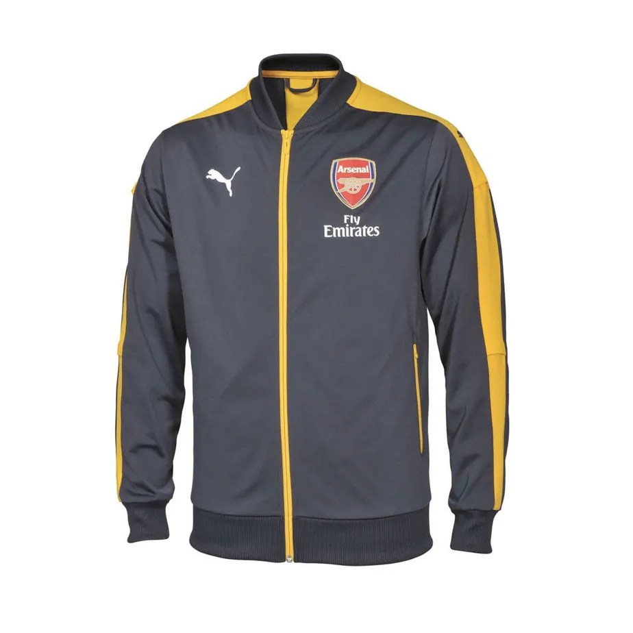 b5b8b8bad22 Arsenal PUMA Mens Grey Stadium Track Jacket - Exclusive Sports