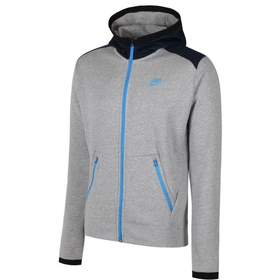 14f94f30e76a Nike Mens Grey Blue Hybrid Tracksuit Hoodie - Exclusive Sports