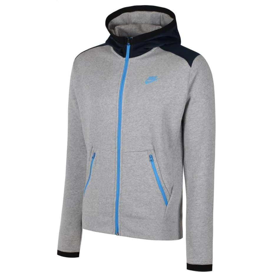 09a7b1569 Nike Mens Grey Blue Hybrid Tracksuit Hoodie - Exclusive Sports