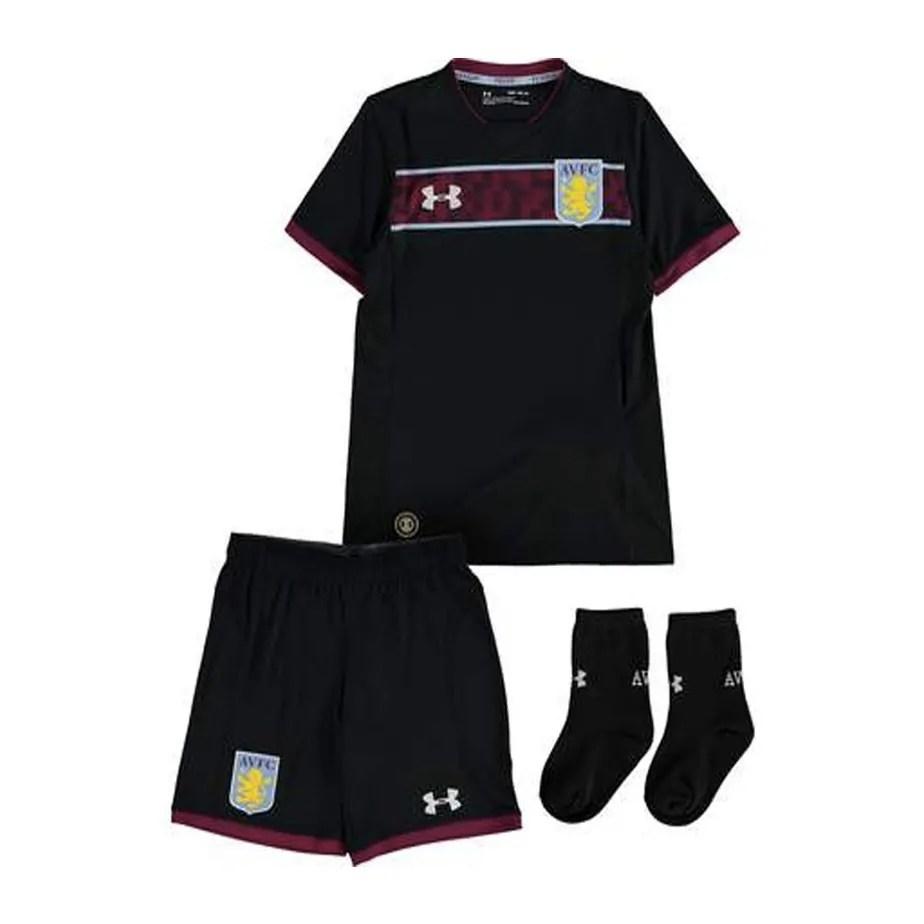 fbec4930b Aston Villa Under Armour Away Toddler Football Kit 2017-18 ...