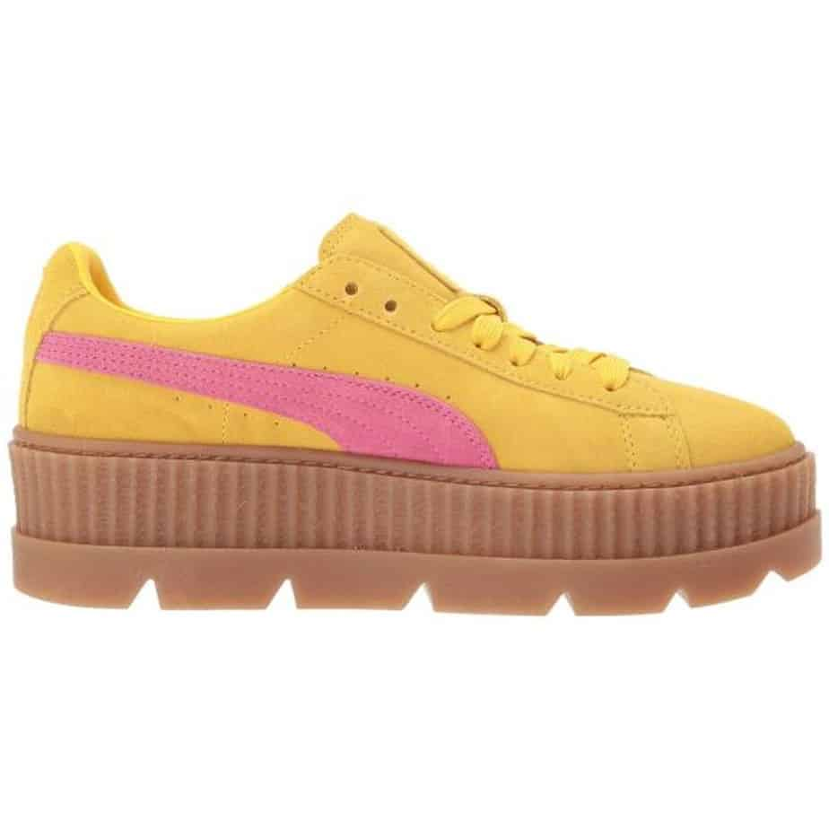 newest 5b13e 03800 PUMA X Rihanna Fenty Creepers Yellow Pink Ladies Trainers