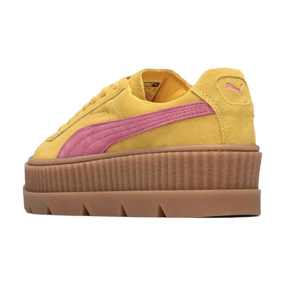 newest bc997 22a8c PUMA X Rihanna Fenty Creepers Yellow Pink Ladies Trainers