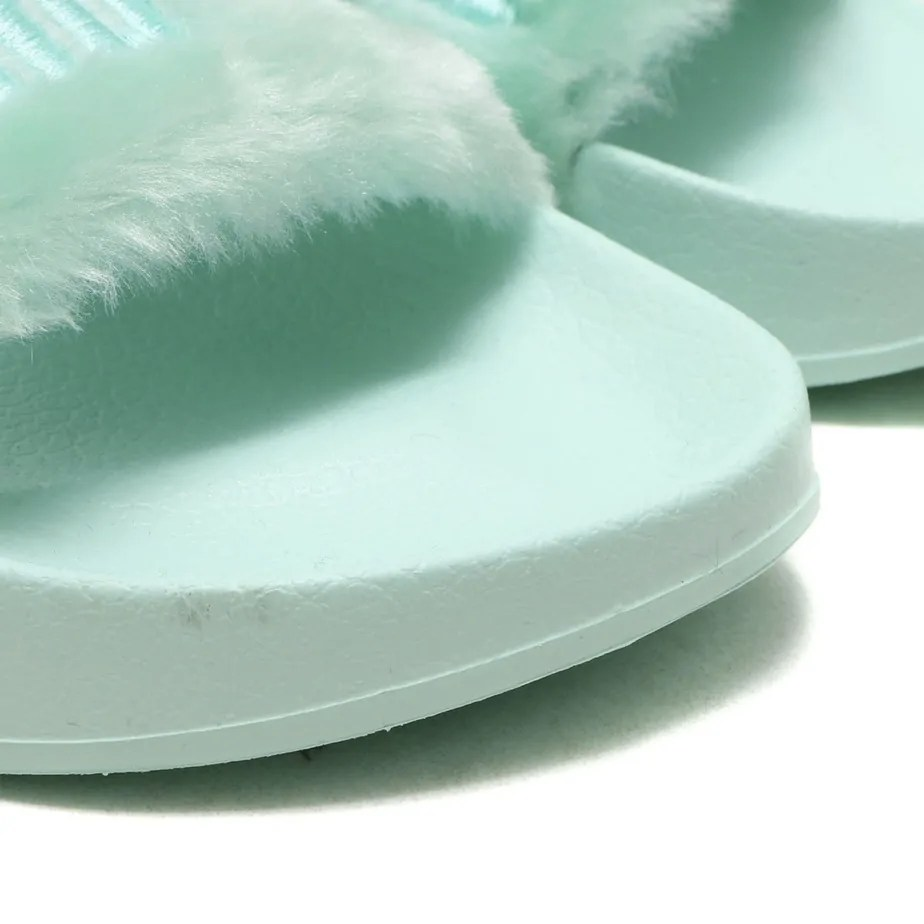 more photos e96c0 5f906 PUMA X Rihanna Fenty Green Fur Slides