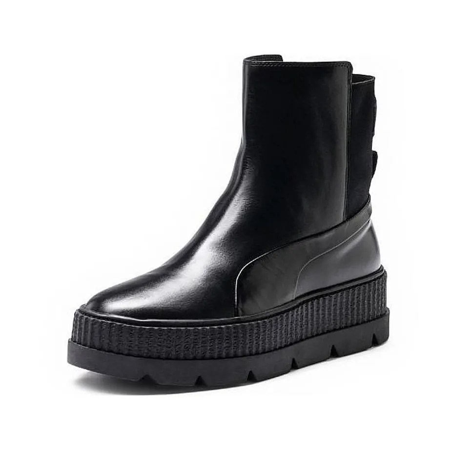 more photos 1ea36 a2204 PUMA X Rihanna Fenty Black Ladies Chelsea Boots