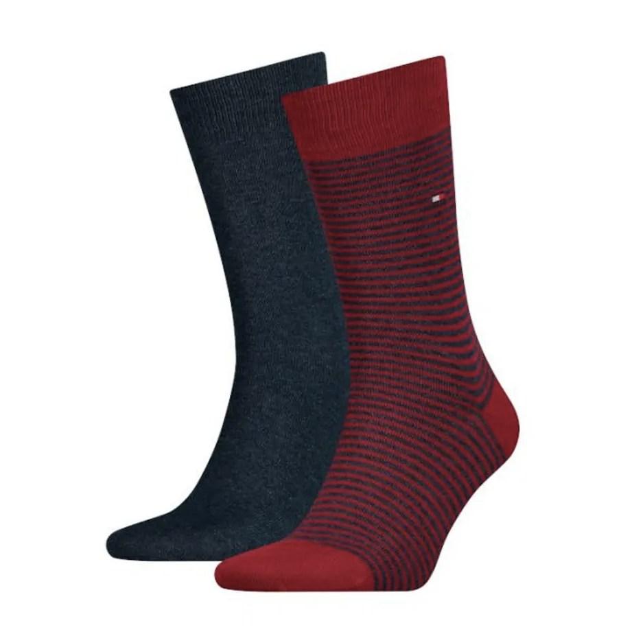 Tommy Hilfiger Mens Wine Calf Socks 2 Pack