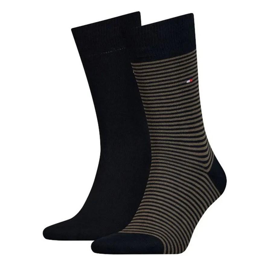 Tommy Hilfiger Mens Dark Olive Calf Socks 2 Pack