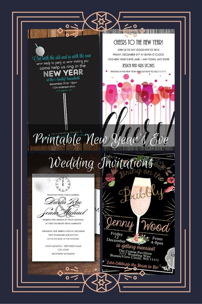 The Night Before Rehearsal Dinner Invitation Printable New Years Eve Wedding Invitations
