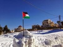 Snow in Ramallah