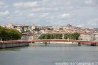 Le pont que nous avons franchi pour rejoindre le vieux Lyon