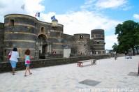 L'entrée du chateau d'Angers se trouvant du coté de la place du Président Kennedy
