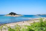 L'île Stérec et la plage à la Pointe de Barnénez