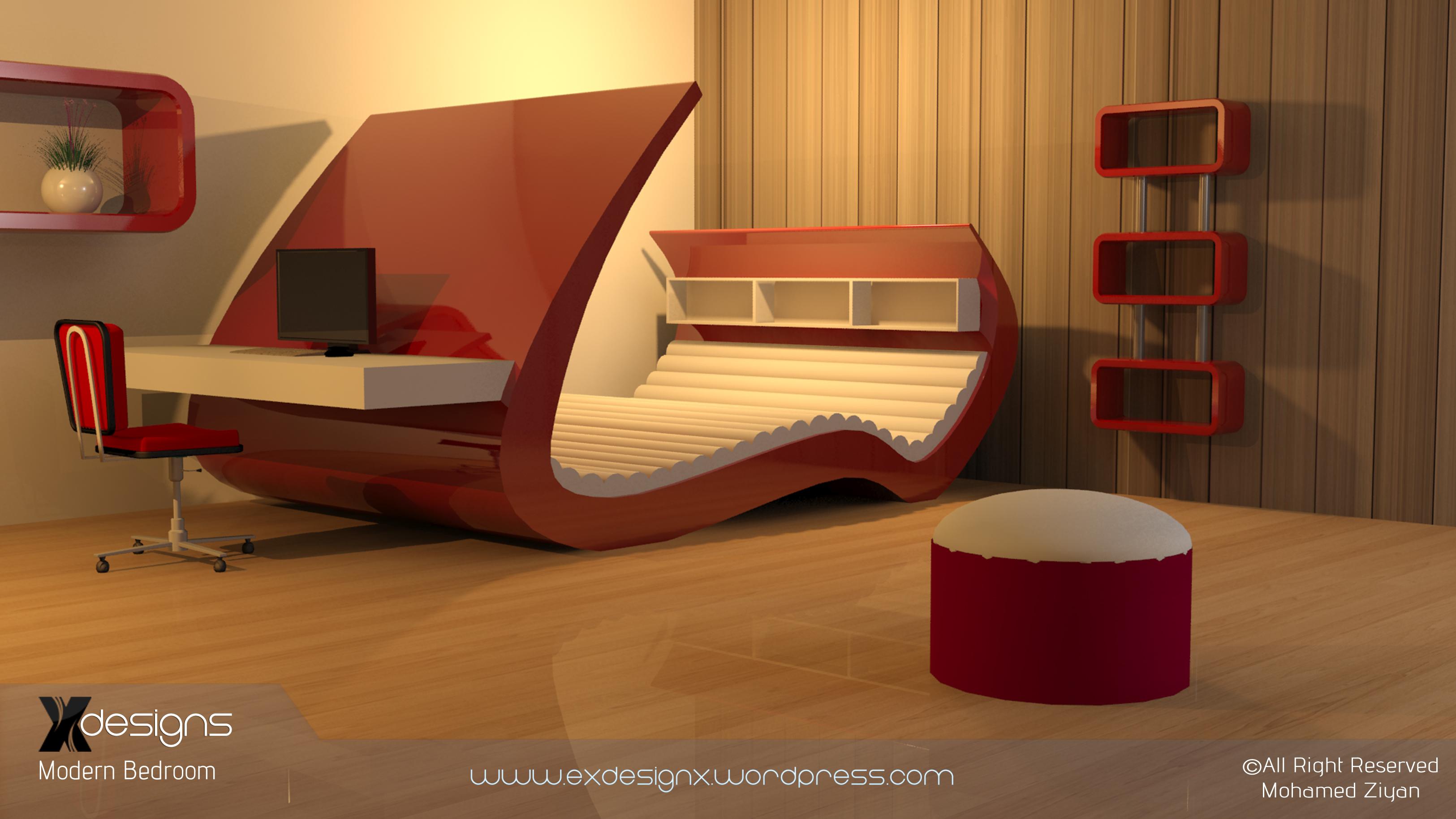 Modern Bedroom X Designs