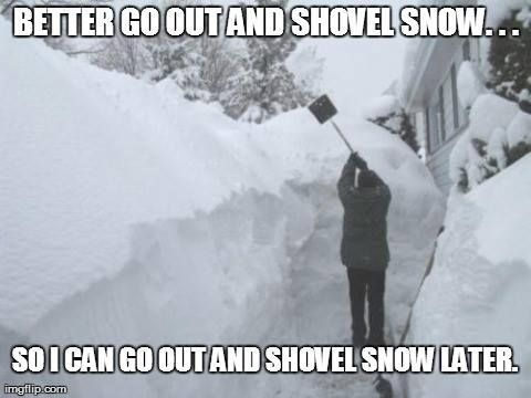 Shovel now and later