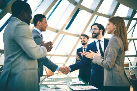 Recruiters meeting talented people
