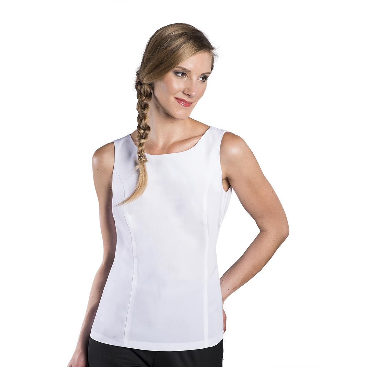 Women's Sleeveless Zipper Back Blouse | Executive Apparel