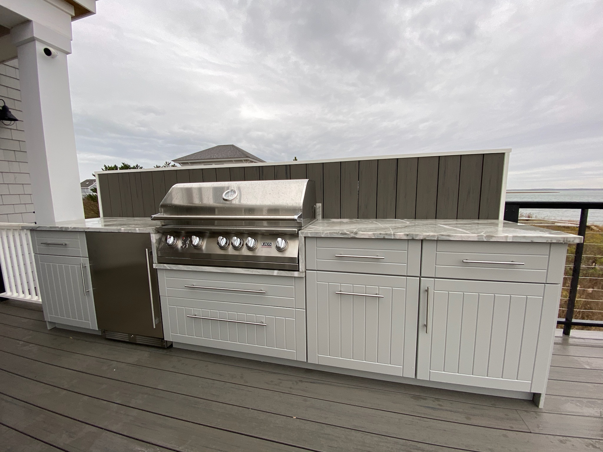 Dolphin Gray HDPE Outdoor Kitchen Cabinets