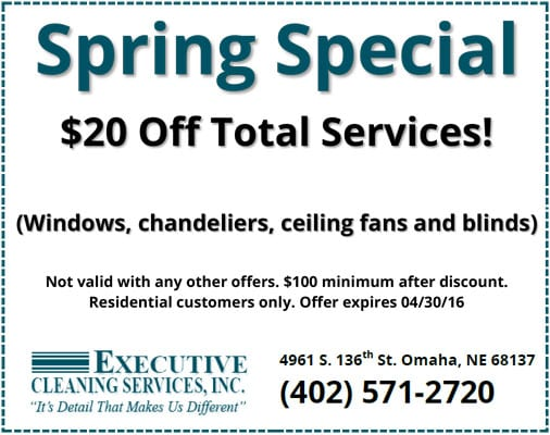 Spring Cleaning Coupon Omaha