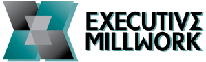 Executive Millwork logo custom woodwork with distinction
