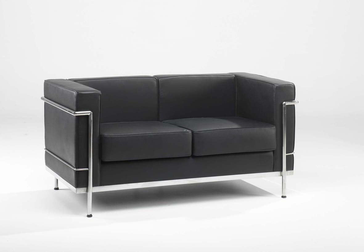 office furniture sofa uk cheap sectional sofas under 400 610 2 black leather seater reception