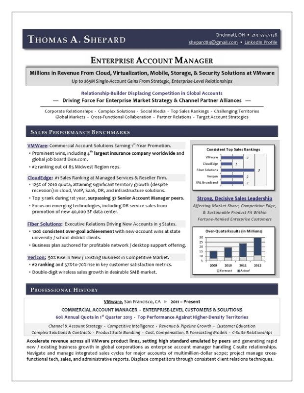 Enterprise Account Manager IT Sales Sample Resume