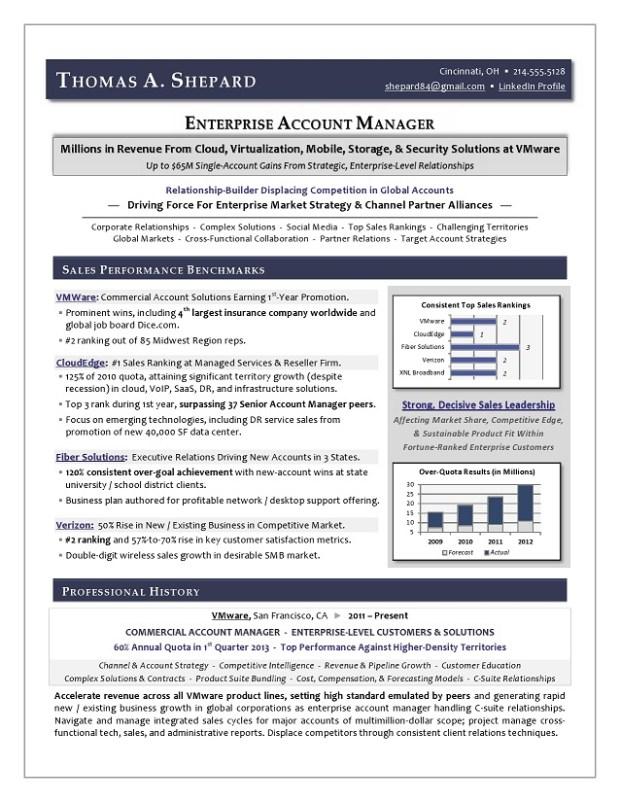 Enterprise Account Manager IT Sales Sample Resume