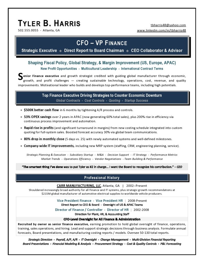 Vp Finance Resume It Engineering Sample Resume 1 Page 1