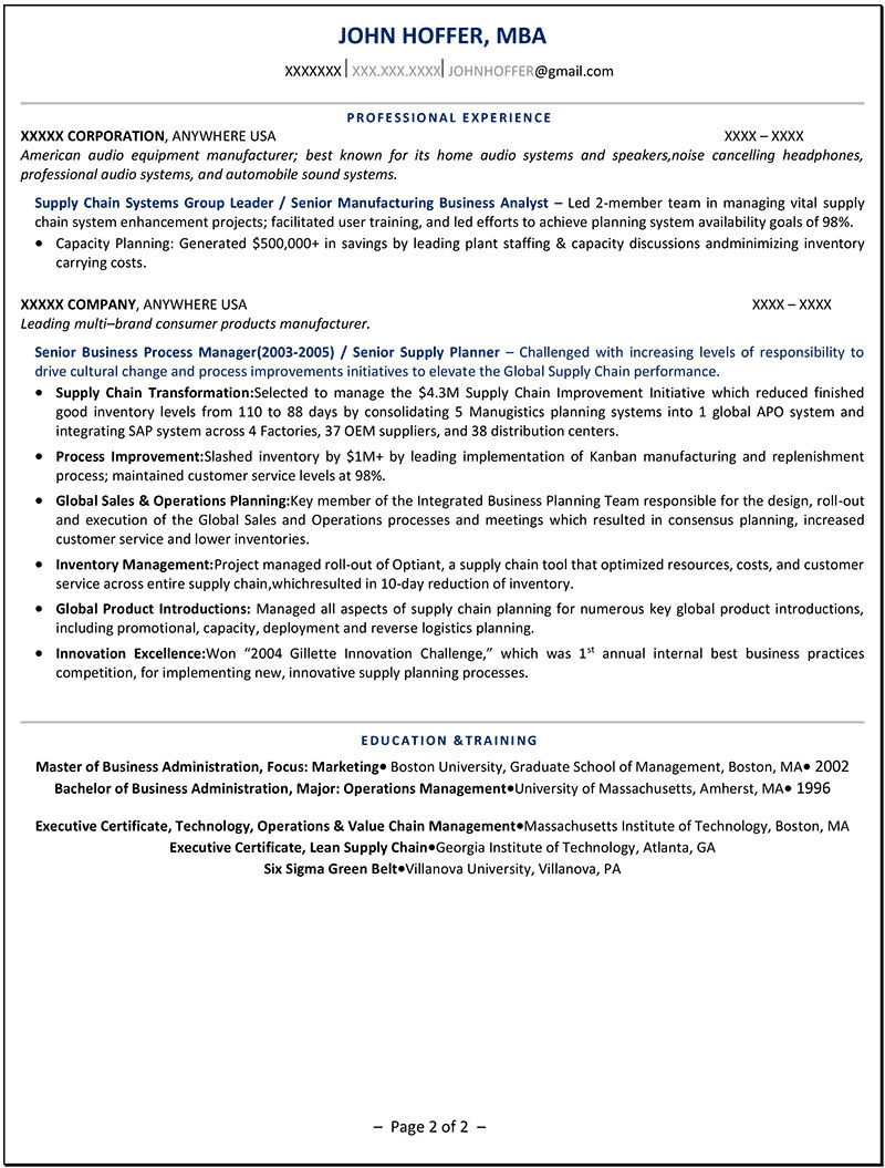 Executive Resume Samples | Professional Resume Writer NY