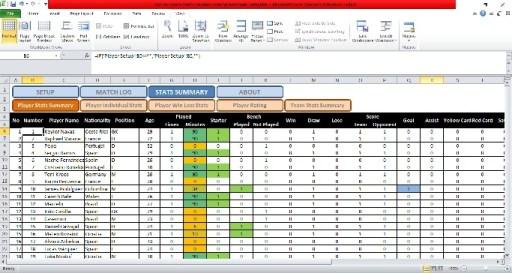 Soccer-Stats-tracker-Spreadsheet