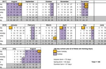 Academic Calendar 2019