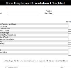 Free New Employee Orientation Checklist Template
