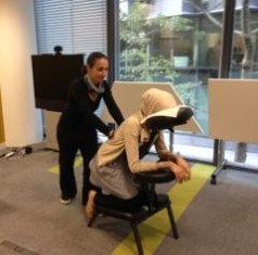 Teach First wellbeing day - Chair massage