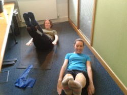 No space too small for Pilates at MCF Corporate Finance