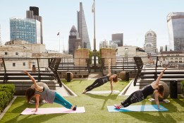 Pilates with a view at Coq D'Argent
