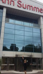 Ann Summers HQ - Mentor Day with Jacqueline Gold , our founder Julia scoping the building!