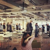 Deskercise lunch and learn session for staff at Pivotal