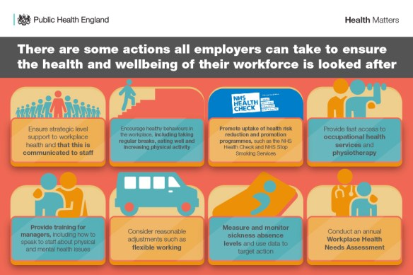 PHE Health at Work - Call to action for employers