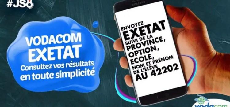 EXETAT : Comment vérifier le résultat avec Vodacom RDC