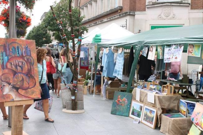 High Street market stalls