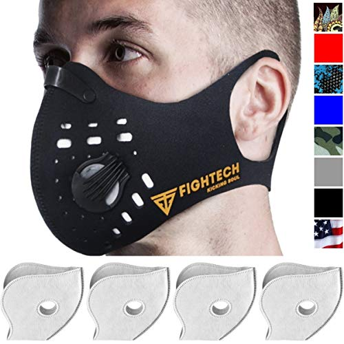 Dust Mask By Fightech Mouth Mask Respirator With 4