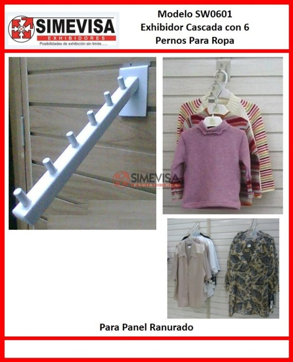 SW0601 Exhibidor cascada con 6 pernos para ropa
