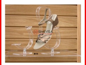 A13 Exhibidor de Acrilico Calzado 12cm alto para mostrador