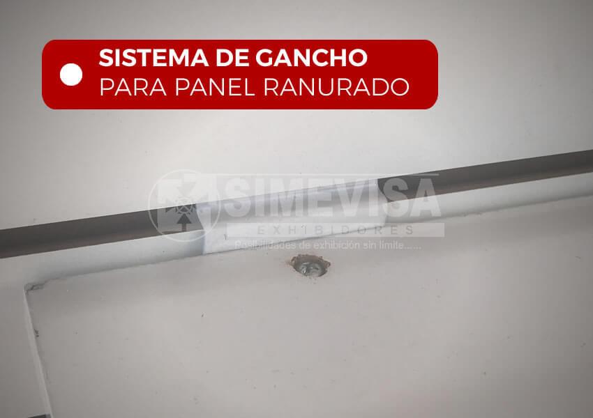 repisa para panel ranurado con sistema de ganchos