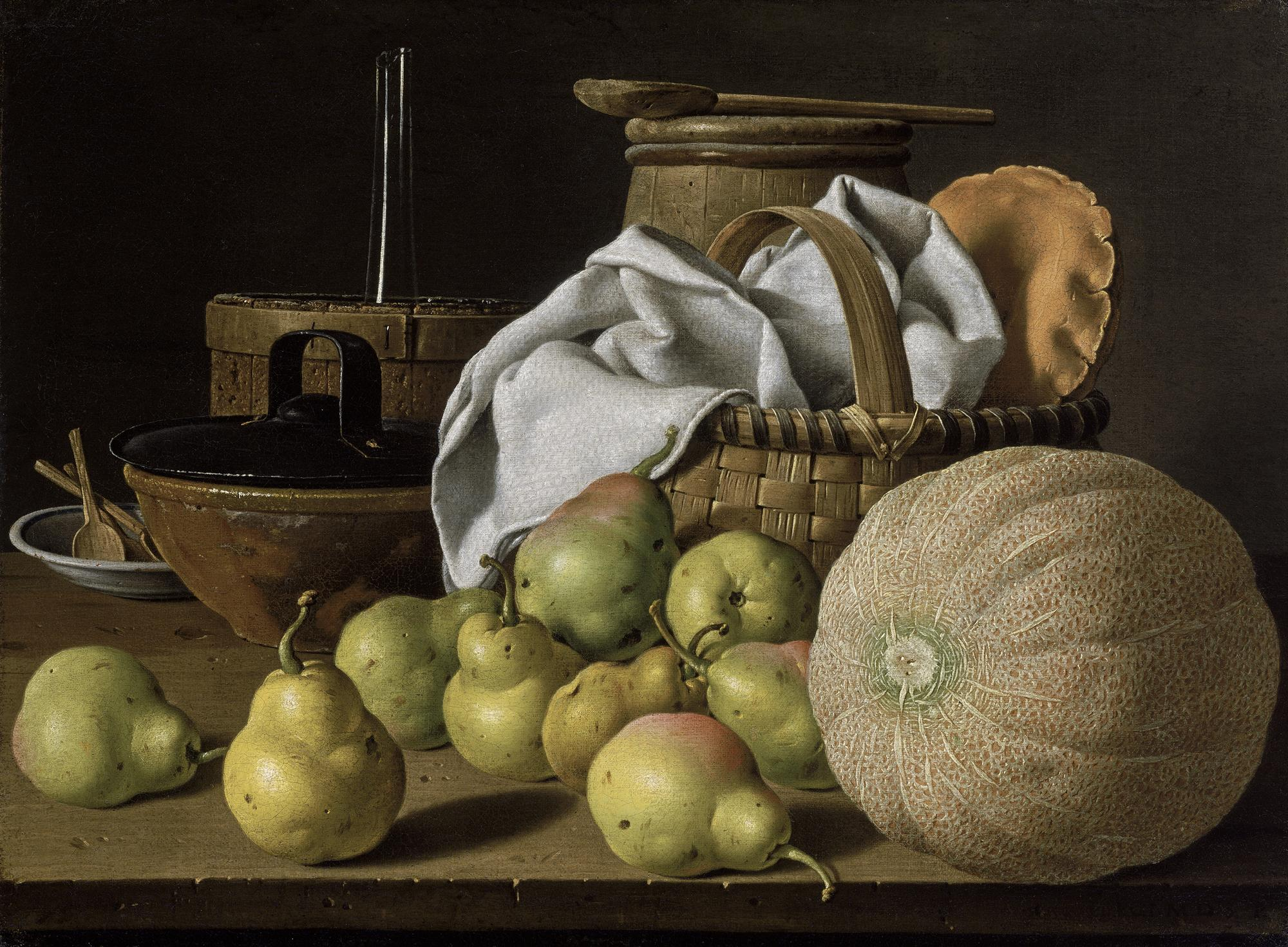 Melendez Still Life with Melon and Pears