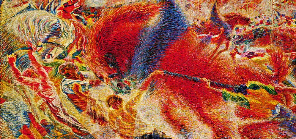 The City Rises Umberto Boccioni