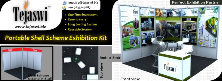 3x3 Shell Scheme Portable Exhibition kit