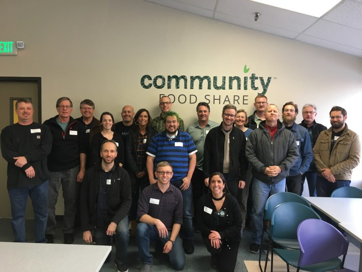 A day of service at the Community Food Share.