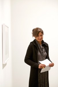 Nimisha Ladva, Visiting Assistant Professor of English, at The Wall in Our Heads Faculty Conversation & Walkthrough.