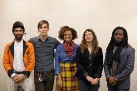 (L-R) Keir Johnston, Mark Strandquist, Jessica Solomon, Shira Walinsky, and Ernel Martinez at the Transforming Division panel.