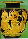 Attic Vase, 490 BCE Philoctetes bitten by a snake on Lemnos